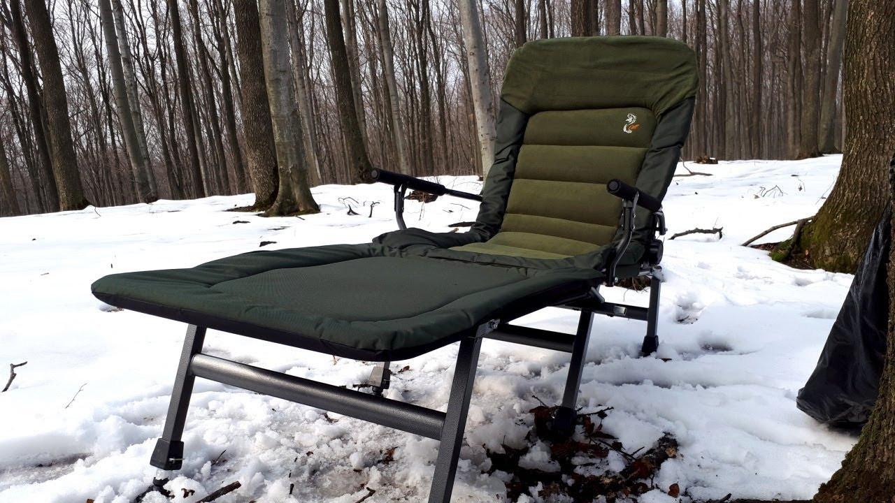 Кресло карповое M-Elektrostatyk FK6+POD подставка для ног