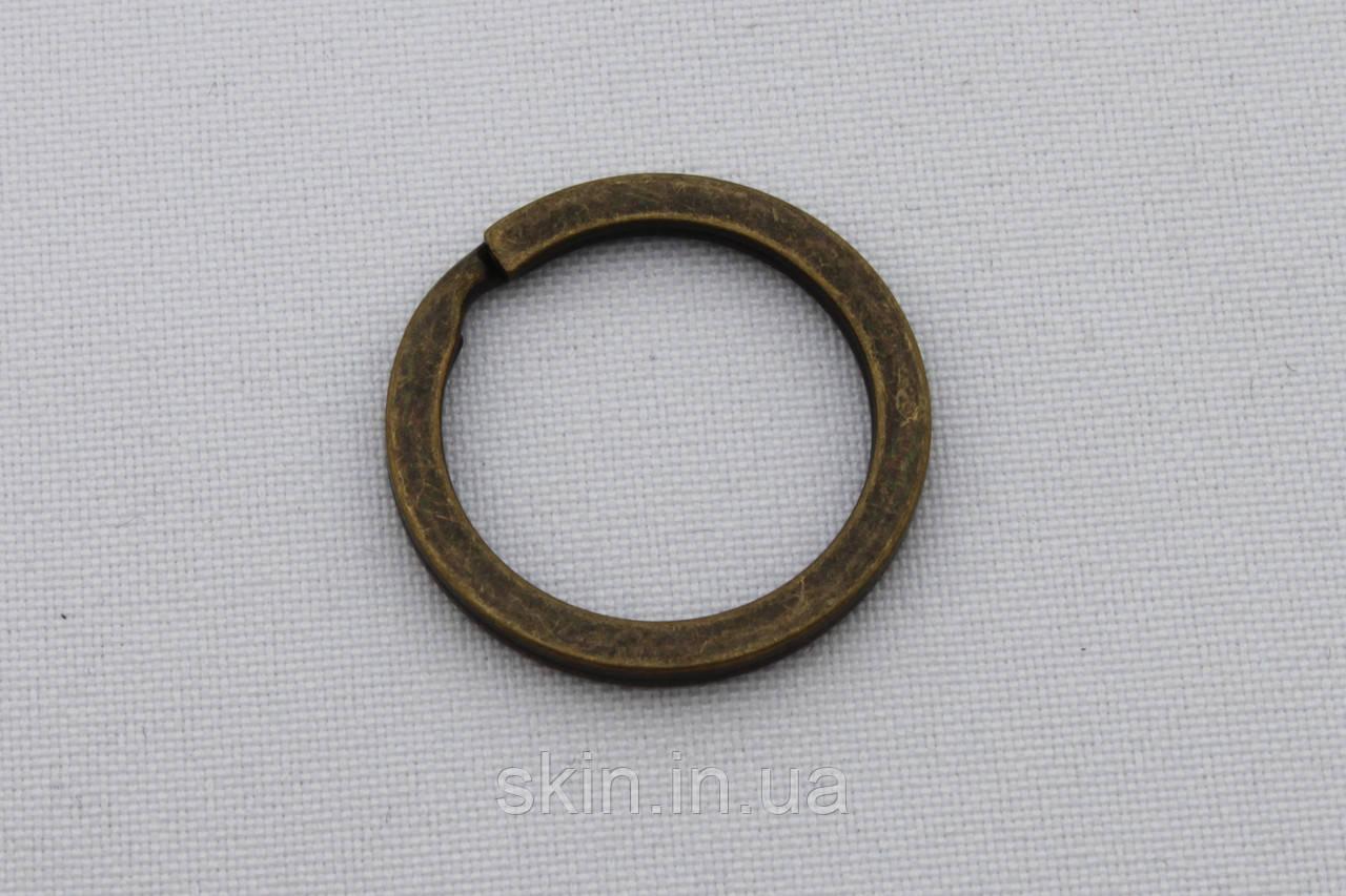 Кольцо ключное плоское, внутренний диаметр 20 мм, толщина 1.8 мм, цвет - антик, артикул СК 5075