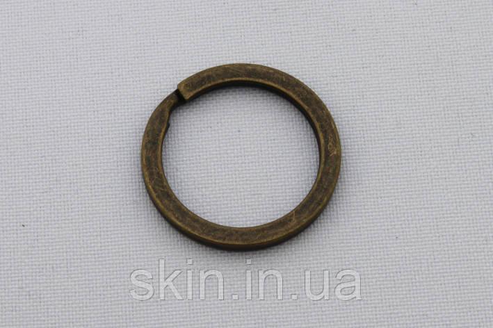 Кольцо ключное плоское, внутренний диаметр 20 мм, толщина 1.8 мм, цвет - антик, артикул СК 5075, фото 2