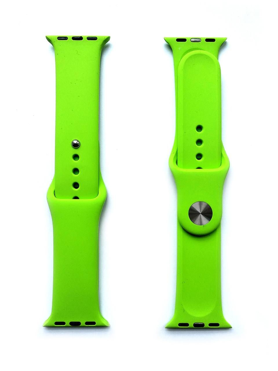 Силиконовый ремешок для Apple Watch Размер 38-40 (Салатовый)
