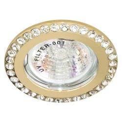 Встраиваемый светильник Feron DL100-C прозрачный золото