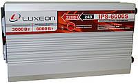 Инвертор напряжения Luxeon IPS-6000S (3000Вт), чистая синусоида, преобразователь 24 в 220, фото 1