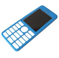 Панель передняя голубая Nokia 206 (оригинал)