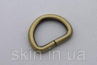 Полукольцо, ширина 25 мм, толщина 5 мм, цвет - антик, артикул СК 5073