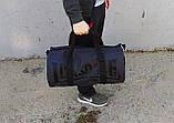 Сумка для спорта Lonsdale London Для тренировок Серая с черным Под коттон Vsem, фото 2