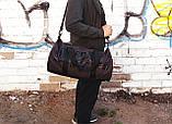 Сумка для спорта Lonsdale London Для тренировок Серая с черным Под коттон Vsem, фото 3
