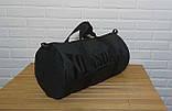 Сумка для спорта Lonsdale London Для тренировок Серая с черным Под коттон Vsem, фото 5