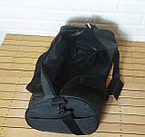 Сумка для спорта Lonsdale London Для тренировок Серая с черным Под коттон Vsem, фото 10