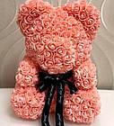 [ОПТ] Мишка из 3D роз 40см в Коробке (Розовый), фото 4