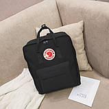 Стильный рюкзак сумка Fjallraven Kanken Classic канкен классик с отделением для ноутбука Черный + подарок, фото 3