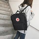 Стильный рюкзак сумка Fjallraven Kanken Classic канкен классик с отделением для ноутбука Черный + подарок, фото 4