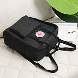 Стильный рюкзак сумка Fjallraven Kanken Classic канкен классик с отделением для ноутбука Черный + подарок, фото 7