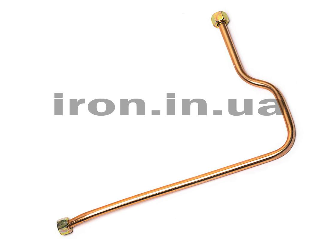 Трубка алюминиевая воздушная компрессора-прессостата 530 мм гайка 3/8*3/8