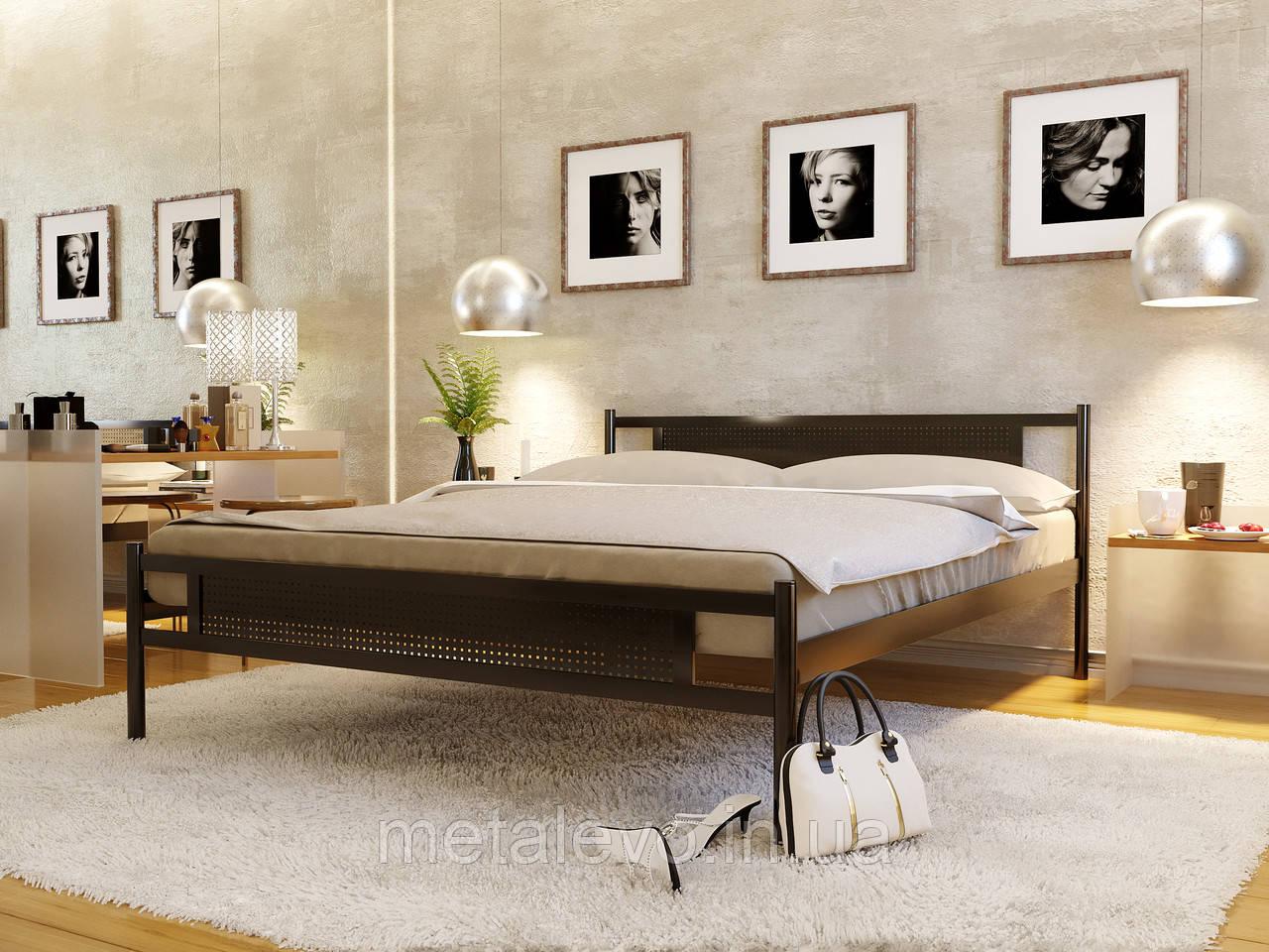 Кровать металлическая с изножьем ФЛАЙ НЬЮ-2 (FLY NEW-2)  ТМ Метакам