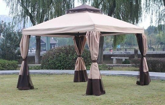 Садовый павильон шатер с москитной сеткой 3х3 м