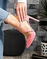 Изумительные замшевые туфли на шпильке
