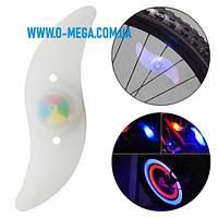 Фонарь велосипедный YY-601/YC-018, 7 цветов, 1 LED, RGB, 3 режима, 1xCR2032, фото 1