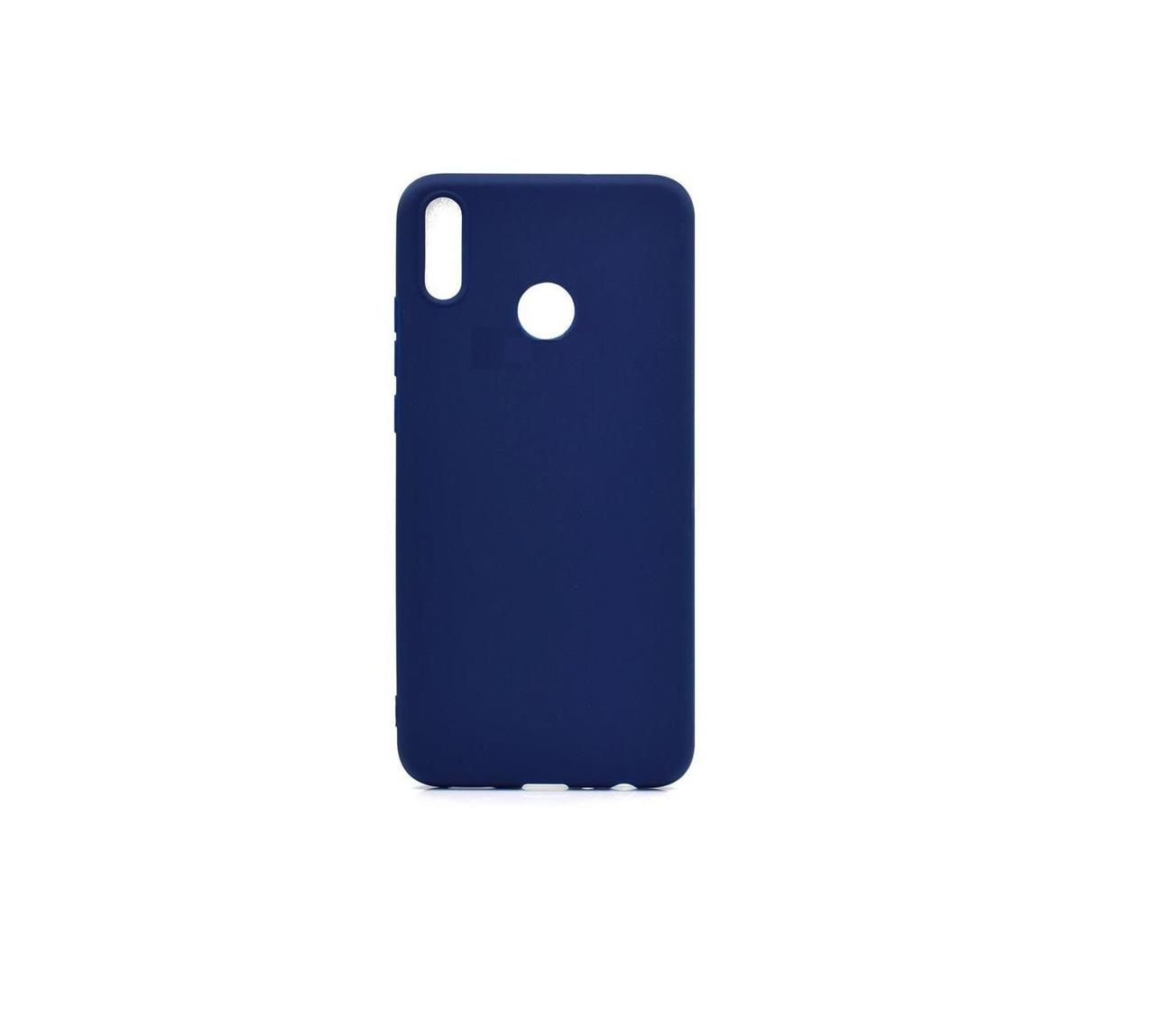 Чехол Candy Silicone для Huawei Honor 8X цвет Синий