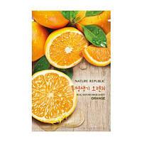 NATURE REPUBLIC REAL NATURE MASK SHEET ORANGE Тканевая маска с экстрактом апельсина