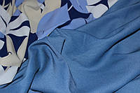 Голубой светлый№ 1. Ткань бенгалин , летний -растяжение по долевой! джинсовое плетение нити, фото 1