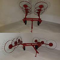 Грабли усиленные Солнышко 6 (шестирядные) для мототрактора, минитрактора, трактора, фото 1