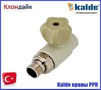 Kalde (білий) кран кульовий з американкою прямий 20х1/2