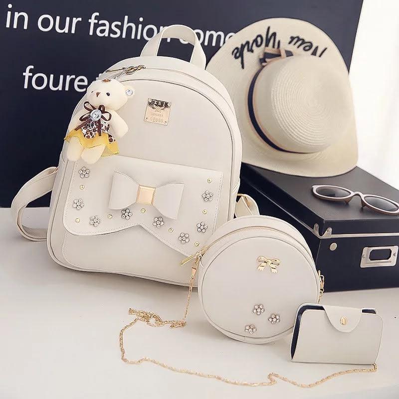 Рюкзак женский Линда 3 в 1 в наборе с сумкой и мишкой Тедди