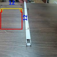Кабельный короб 12 мм х 12 мм длина 2,0 м Белый