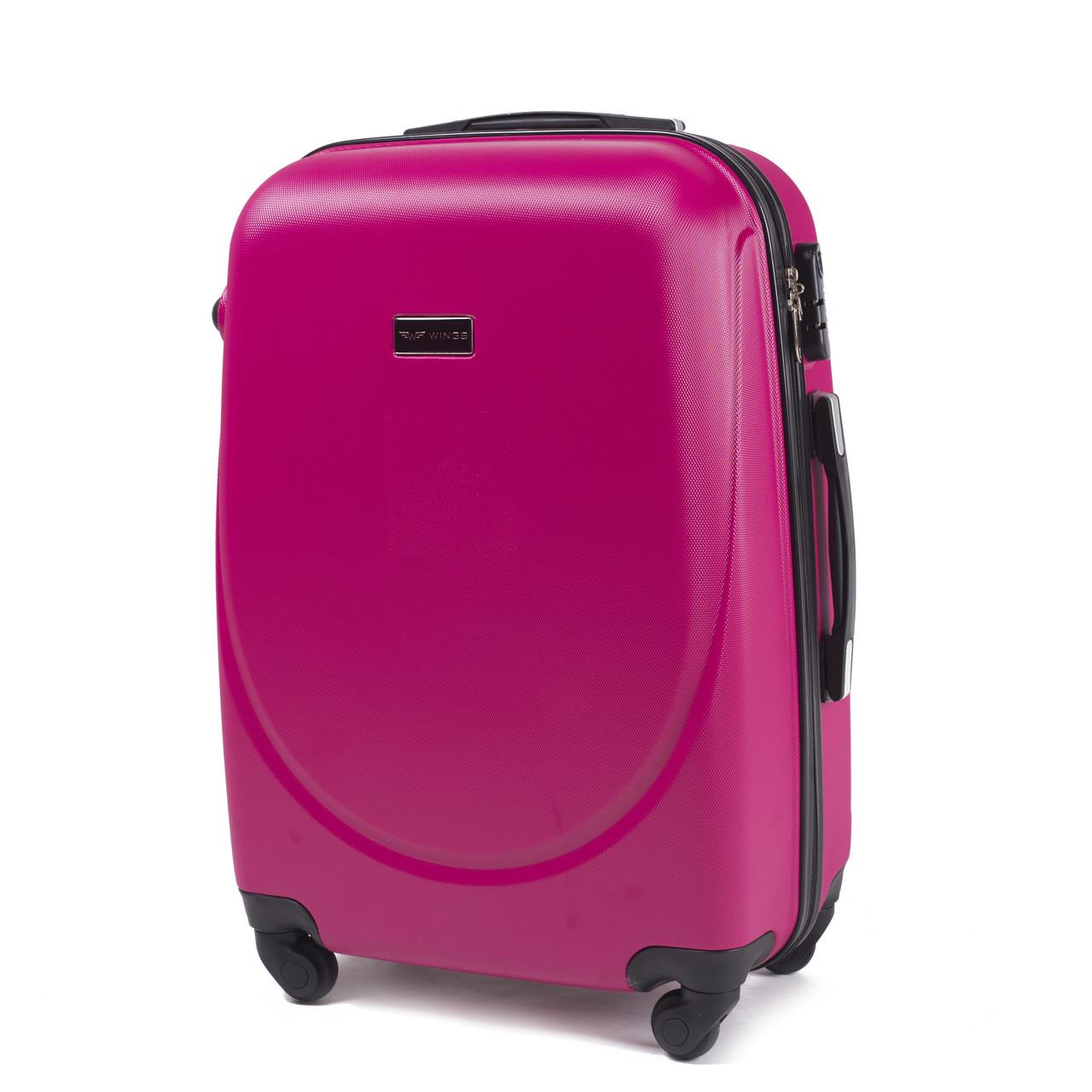 Чемодан дорожный на 4 колесах Wings 912 Большой (L) Розовый