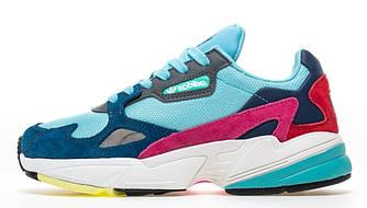 """Женские кроссовки adidas falcon """"Blue"""" (Premium-class) разноцветные"""