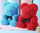[ОПТ] Ведмедик з 3D троянд 40см в Коробці (Червоний), фото 2