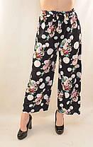 Брюки женские летние укороченные Капри женские с цветочным рисунком , фото 3