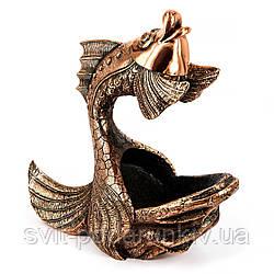 """Подставка под вино статуэтка рыбы """"Золотая рыбка"""" ES357"""
