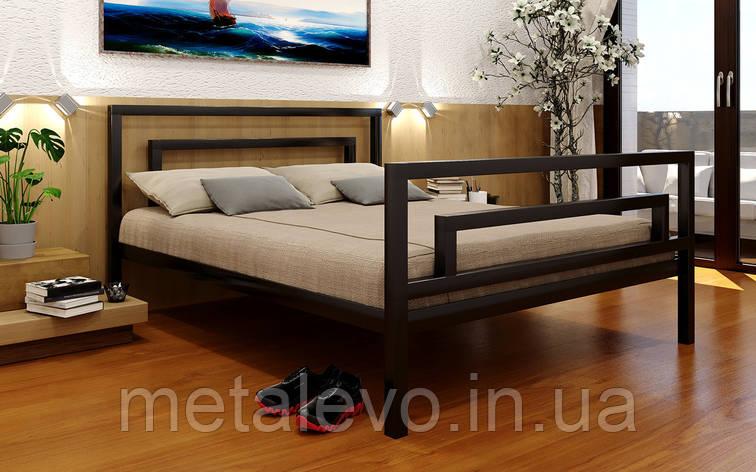 Кровать металлическая с изножьем  БРИО-2 (BRIO-2)  ТМ Метакам, фото 2