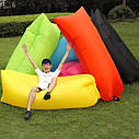 Ламзак - надувной шезлонг диван мешок Lamzak Красный, фото 2