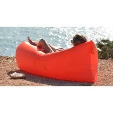 Ламзак - надувной шезлонг диван мешок Lamzak Красный