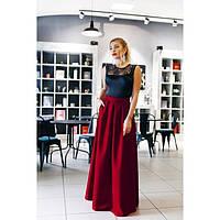 Платье женское длинное юбка габардин