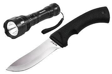 Нож рыбацкий 01085 + фонарь 8513