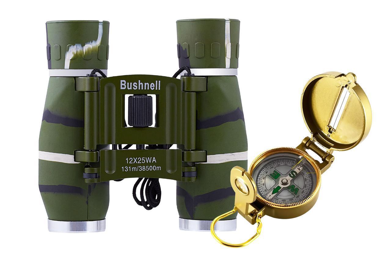 Бінокль 12х25 - BHS (green) + компас TSC-4