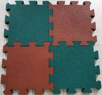 Резиновая плитка  455х455х20 мм и 30 мм  «ПАЗЛ