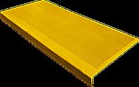 Накладка на ступеньку резиновая противоскользящая 75*33*0,3 см (жёлтая)