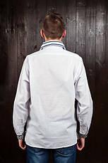 Вышиванка на домотканной ткани мужская, фото 3