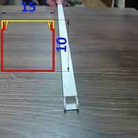 Декоративный кабельный канал 15 мм х 10 мм длина 2,0 м Белый