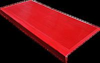 Накладка на ступеньку резиновая противоскользящая 75*33*0,3 см (красный)