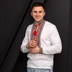 Мужская вышиванка Мирослав с длинным рукавом, фото 2