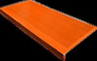 Накладка на ступеньку резиновая противоскользящая 75*33*0,3 см (оранжевый)
