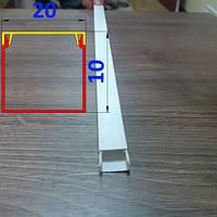 Прямоугольный кабельный короб 20 мм х 10 мм длина 2,0 м Белый