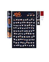 Постер, 100 Дел KAMASUTRA EDITION, в тубусе, лучший, скретч постер камасутра!