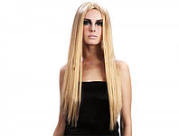 Парик блондинки с длинными прямыми волосами