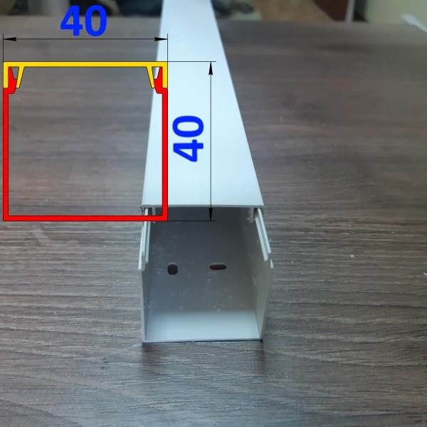 Профиль для скрытия проводов 40 мм х 40 мм длина 2,0 м Белый